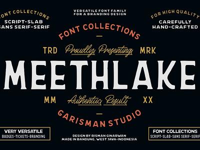 Meethlake Typeface vintage font retro fonts vintage fonts new fonts font family logo font design fonts typography font awesome branding handlettering free fonts font