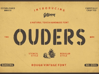 Ouders Typeface font family logo font design fonts font awesome branding typography handlettering free fonts font