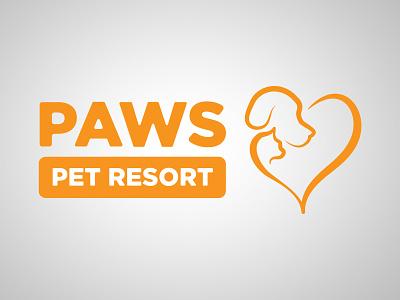 Paws For A Cause vector branding design logo