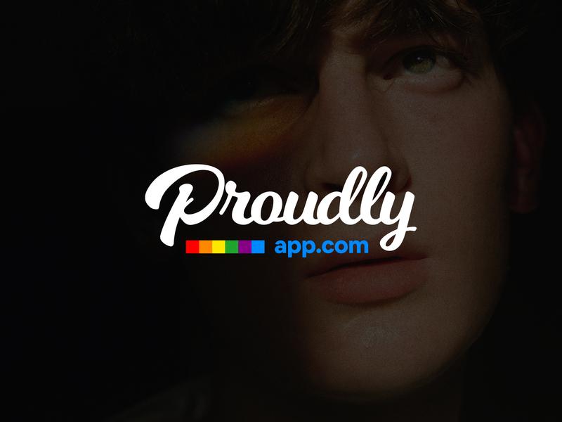 Proudly App logo & branding minimal mobile app mark graphic design identity branding logo