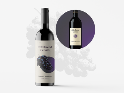 Cakebread Cellars label redesign redesign wine label graphic branding design