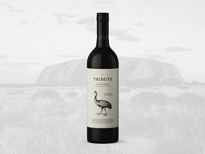 Tribute, New South Wales Wine wine identity graphic design label branding