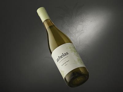 Athelas, Weathertop Estate wine label identity branding graphic design