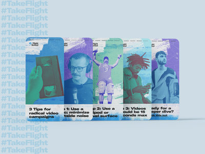 Twitter Flight School branding texture graphic design