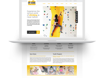 Onedge Climbing Gym minimal gym climbing website ux ui web-design