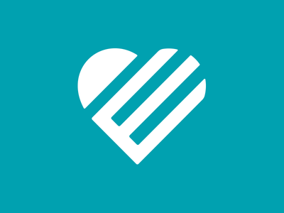 Heart Effect mark icon heart graphic design logo