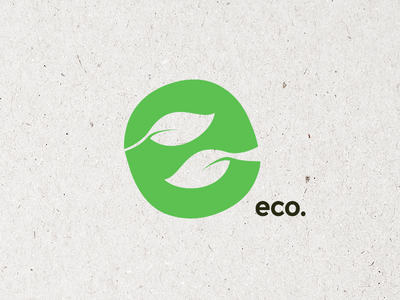 Eco Logo identity branding icon mark design graphic logo