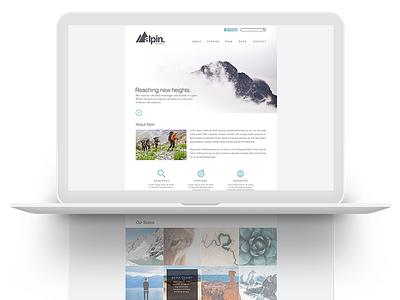 Alpin Brand Identity digital type font collateral brand identity-system branding webpage ux user-experience ui desktop