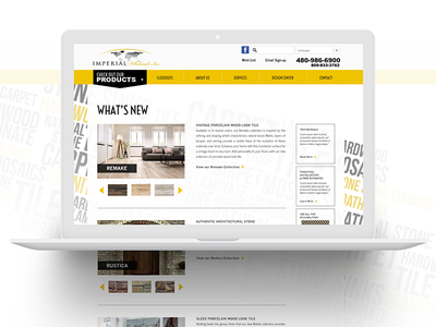 Imperial Wholesale webpage ux user-experience ui landing-page digital
