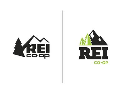 REI Logo Rebrand mark rebrand adventure rei logo identity icon graphic design branding