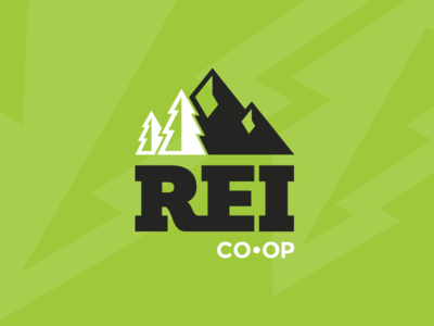 REI Logo Rebrand mark rebrand adventure rei logo identity icon graphic design branding