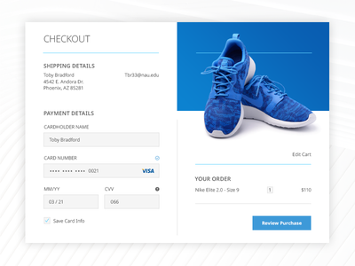 Daily UI - Credit Card Checkout #002 ux checkout mobile graphic digital design ui daily
