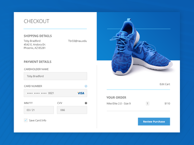 Daily UI - Credit Card Checkout #002