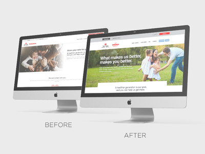 American Heart Association Landing Page redesign desktop mobile wireframe process web branding digital page landing redesign