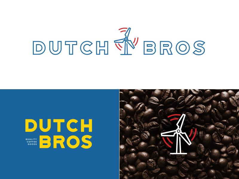 Dutch Bros logo evolution process it mark identity branding graphic design logo