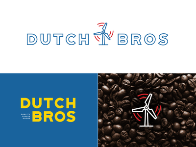 Dutch Bros logo evolution process it mark identity branding graphic design logo