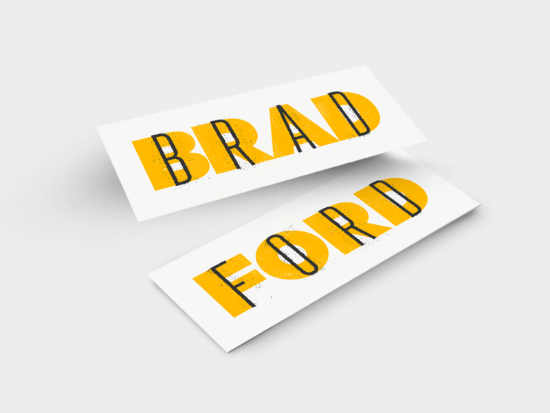 Bradford Font Fun type texture