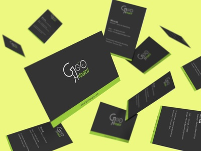 Business Card Mockup For GooHungry iilustration business card business branding