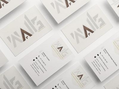 Walls business card logo branding design business business card mockup