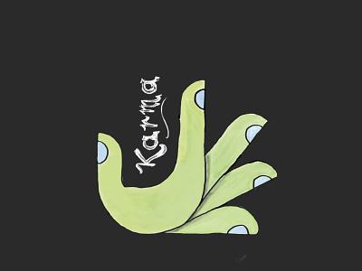 KARMA digital inspired from dribbble digital illustration digital art digital painting design illustration