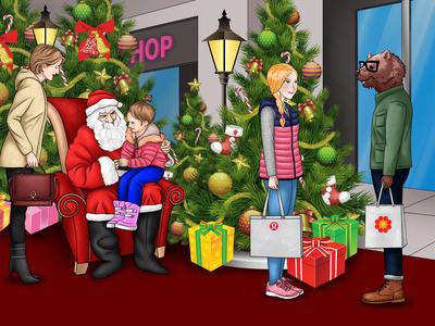 Christmas theme children book design