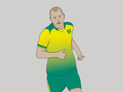 Teemu Pukki green line art illustration football soccer footballer premier league teemu pukki norwich city