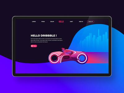Hello Dribbble, Frist shot, FLYN Project hello dribbble first shot ux ui webdesign yohan texier