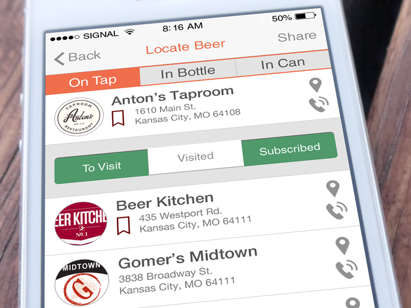 PourMeABeer iOS App ios mobile beer ui design