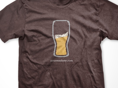 8 Bit Pint beer typography 8 bit tshirt