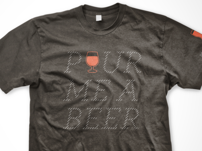 Reflective Beer Tee typography reflective ink beer tshirt