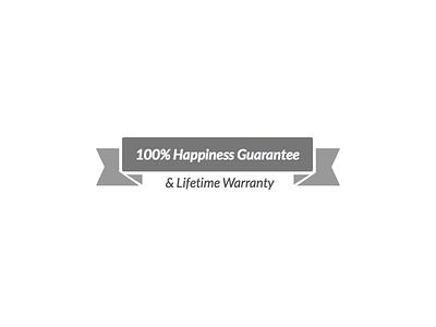 Happiness Guarantee typography guarantee happiness badge
