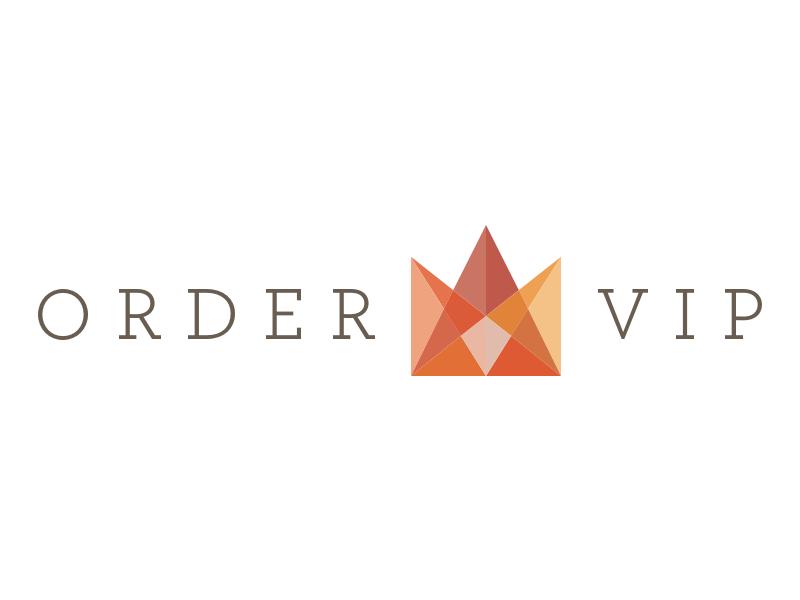 OrderVIP Logo luxury royalty crown logo mark logo mark