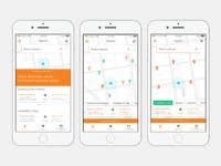 Dribbble app mockups