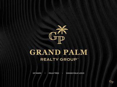Grand Palm Realty Group case study typography logomark branding simple modern brand design logo graphic design grandpalm