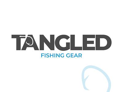 TANGLED vector typography branding modern brand design simple logo