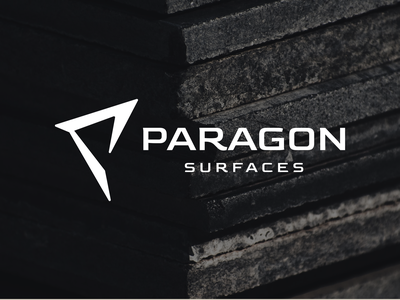PARAGON simple logomark modern design abstract custom surface brand logo paragon