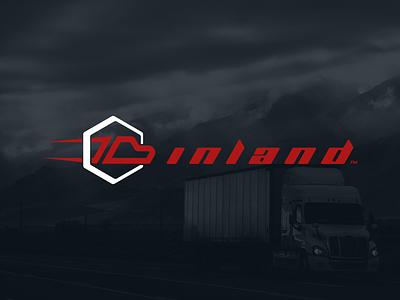 Inland Transport typography custom vector branding logomark modern brand logo design simple