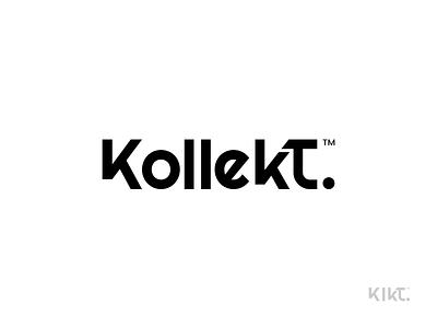 Kollekt. Logo fonts type branding brand modern logo design simple