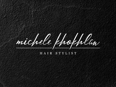 MK Hair Stylist minimal type font branding brand modern design logo simple