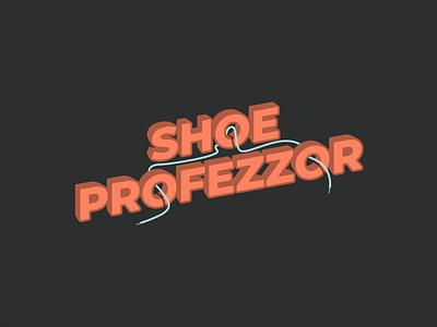 Shoe Profezzor type font branding custom art sticker vector illustration modern design simple
