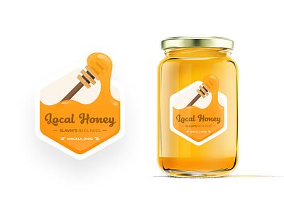 Honey Bees-ness packaging design harvester sticker honey dipper bees honey