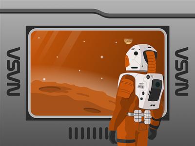 Leaving It All Behind martian solar system home shuttle mars astronaut nasa