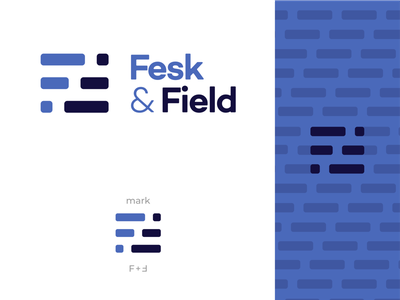 Fesk & Field Branding simple minimal general contracting construction ff logomark bricks logo branding