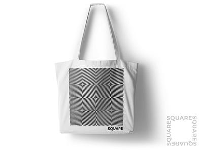 Square Apparel / Accessories trip white black pattern simple square clothes bag print