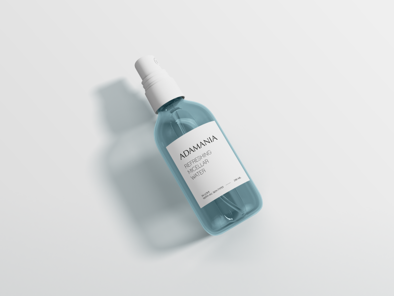 micellar water brand design minimalistic design minimalism brand identity design beauty brand skincare healthy lifestyle labeldesign packaging lifestyle brand