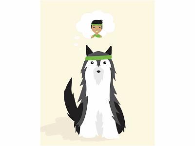 Illustration for the US Humane Society animal rescue animal shelter pet adoption poster humane society husky dog animal vector illustration vector illustration