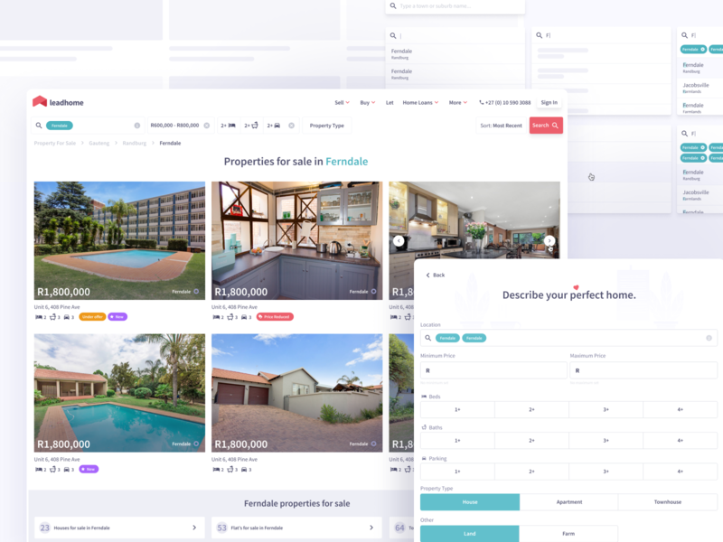 Property Search MVP product design ui search property
