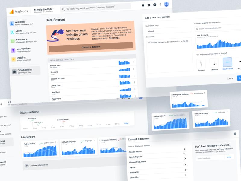 Google Analytics Feature Concept product design graphs analytics ui