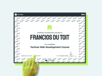 TechRex Certificate branding illustration graphic design certificate