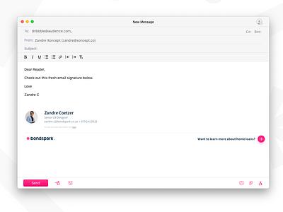 Bondspark Email Signature design ui email email signature